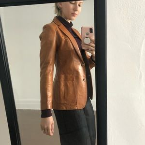 VNTG LEATHER BLAZER